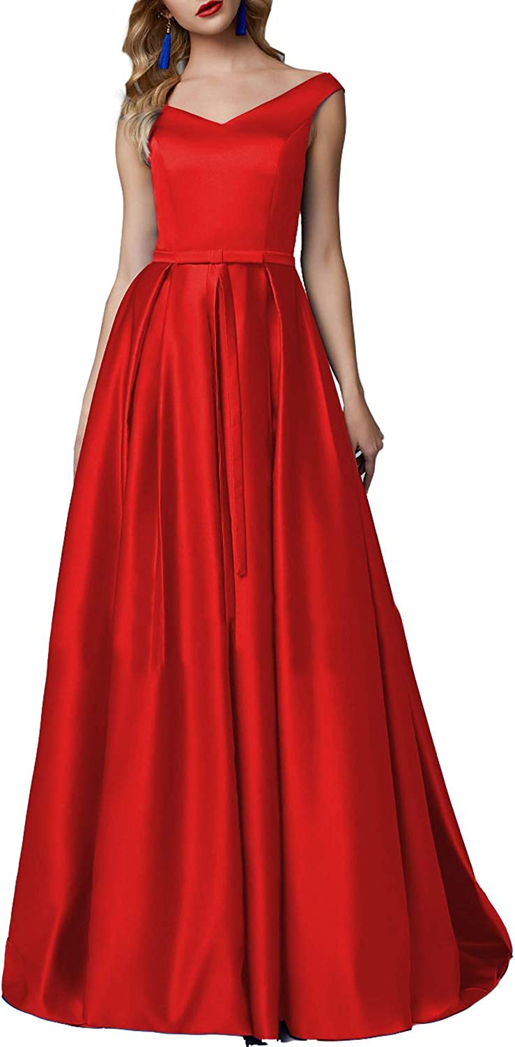 CCBubble Women's Long Satin Bridesmaid Dresses Corset Back Long Prom Formal Party Dress CXY786
