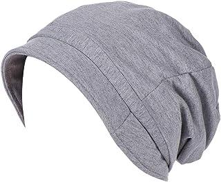 Dubocu Women Muslim Turban Hat Cap Ruched Solid Color Visor Hat Ramadan EidIslamic Head Wrap Soft Comfortable Chemo Cance...