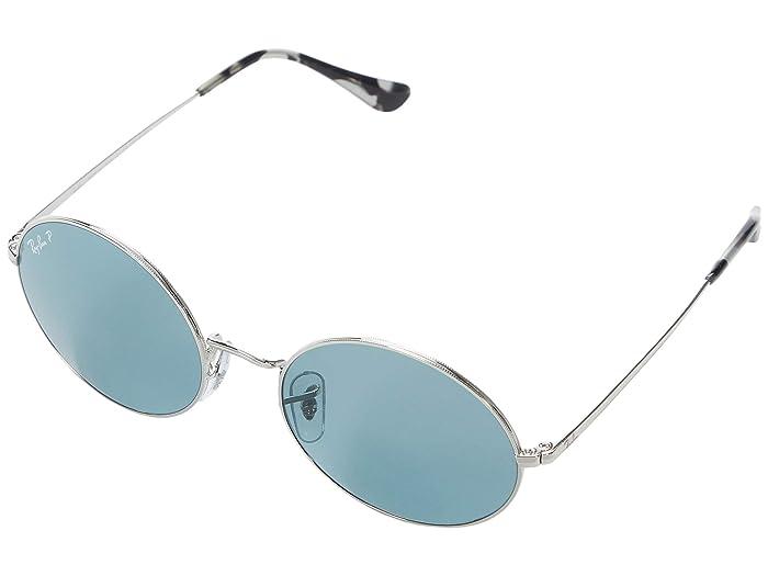 1960s Sunglasses | 70s Sunglasses, 70s Glasses Ray-Ban 54 mm RB1970 Oval Metal Sunglasses - Polarized SilverPolar Blue Fashion Sunglasses $154.00 AT vintagedancer.com