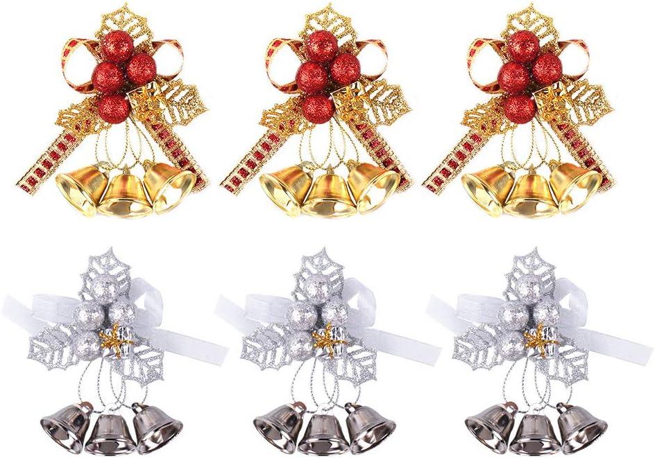 Festivous Superior Wishel Christmas Bells Ornament Simulati Pieces Set 6 Max 59% OFF