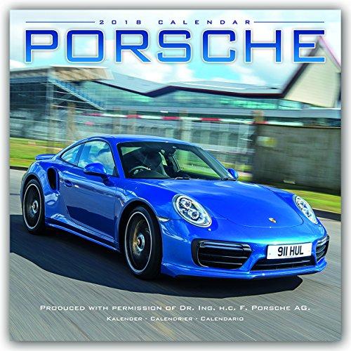 Porsche Calendar- Calendars 2017 - 2018 Wall Calendars - Car Calendar - Automobile Calendar - Porsche 16 Month Wall Calendar by Avonside