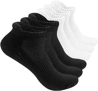 Running Socks, Cushioned Sports Socks Cotton Trainer Socks For Men & Women Ladies, Nonslip Ankle Socks, Low Cut Athletic S...