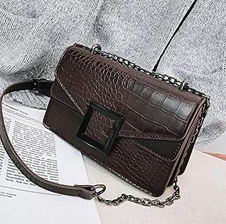 DJBMENG Retro Fashion Lady Square Bag 2019 Nueva Cuero De La PU Diseñador De Las Mujeres De Lujo Bolso De Bloqueo Cadena De Hombro Bolsa De Mensajero Acampada y senderismo