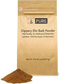 Slippery Elm Bark Extract Powder (2 lb) by Pure Ingredients, Highest Concentration (10:1), 100% Pure & All-Natural, Vegan,...