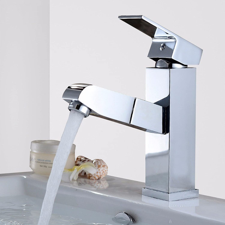 Lvsede Bad Wasserhahn Design Küchenarmatur Niederdruck Vollkupfer-Einhand-Einloch-Zug-Teleskop-Warm- Und Kaltwasserhahn-Vierkant-Wasserhahn L5417