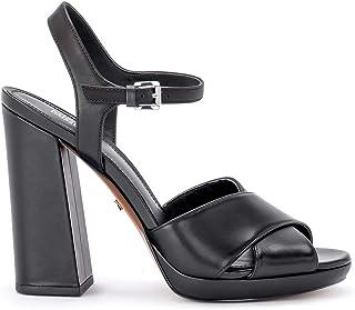 Michael Kors Woman's Sandalo Con Tacco Alexia in Pelle Nera