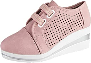 Frunalte Women's Large Size Pump Shoes,Hollow Out Wedges Breathable Lightweight Sandals Height Increasing Casual Shoes