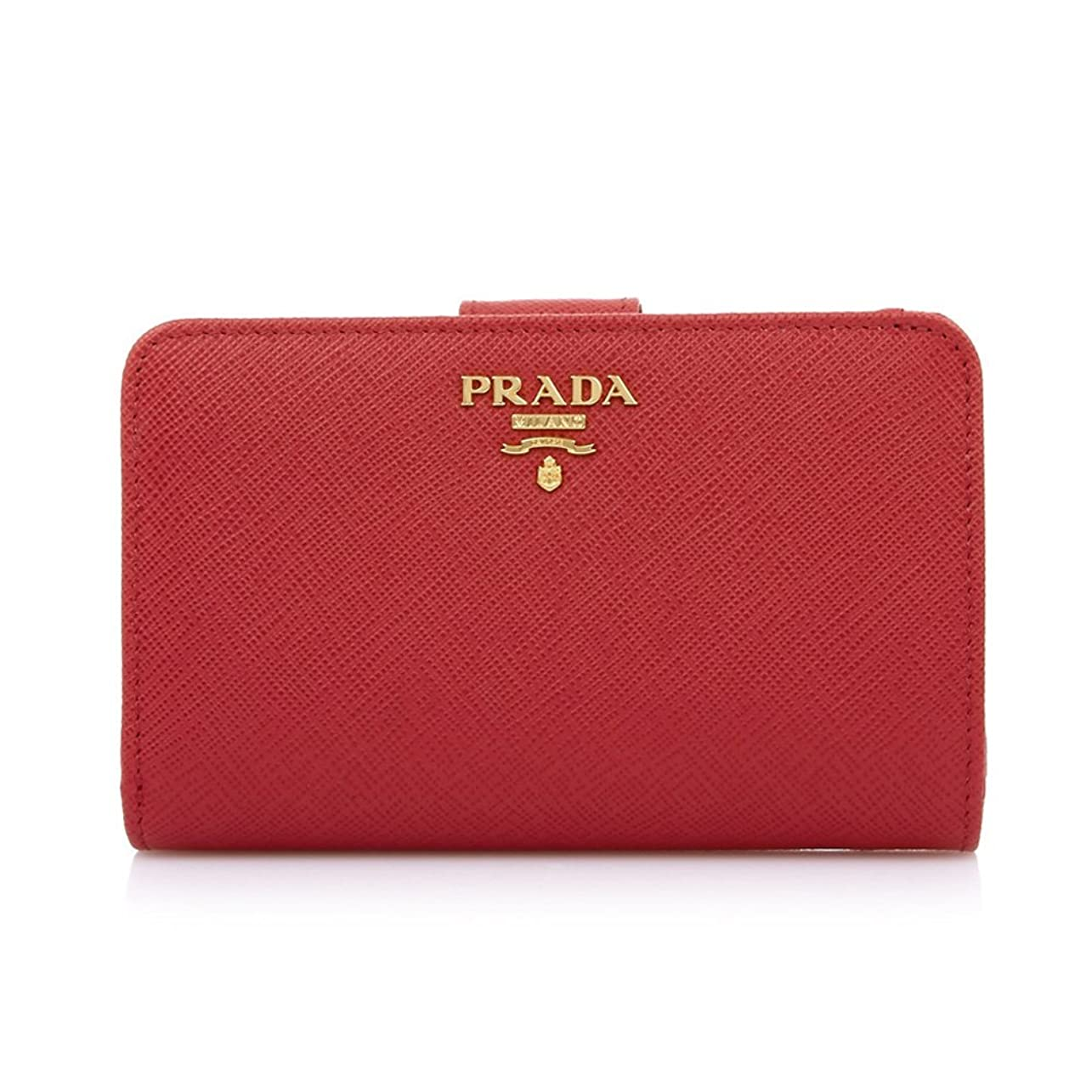 資格ドレス幹[プラダ PRADA] レディース 二つ折り財布 RED [並行輸入品]