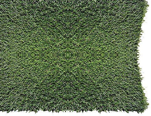 PZG 1-inch Artificial Grass Patch w/ Drainage Holes & Rubber...