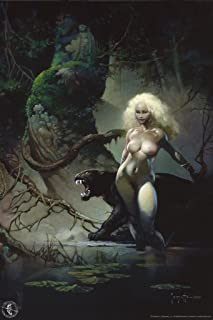Princess and The Panther by Frank Frazetta Cool Wall Decor Art Print Poster 24x36