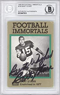 Bart Starr Autographed 1985 Football Immortals Card #108 Green Bay Packers