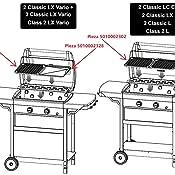 Campingaz 2 Series Classic LX Vario Barbacoa a Gas, BBQ con 2 Quemadores, 7.5 KW, Plancha y Parrilla de Acero Estampado, 2 Mesas Laterales