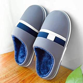 Oversized Cotton Slippers Men's Thick Bottom Warm And Non-Slip,52—53