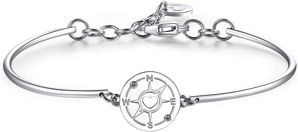Brosway chakra bracciale per donna in acciaio 316l con bussola e 2 cristalli swarovski. BHK370 1