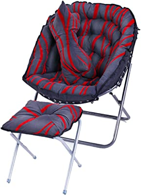 DUOER home Creative Lazy Couch Chair Simple Bedroom Living Room Mini Cute Casual Folding Balcony Recliner