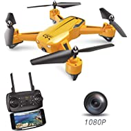 ScharkSpark Drone SS40 The Wasp Drone with 1080P 120° FPV HD Camera/Video, RC Toy Quadcopter...
