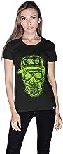 Creo Green Coco Skull T-Shirt For Women - Xl