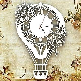 Orologio da parete Decorazione Arredo Design Mongolfiera Bianco Artigianale