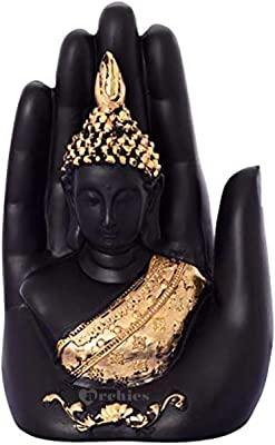 Ruchit Handicraft Buddha Embossed in a Palm Best for Home Decor