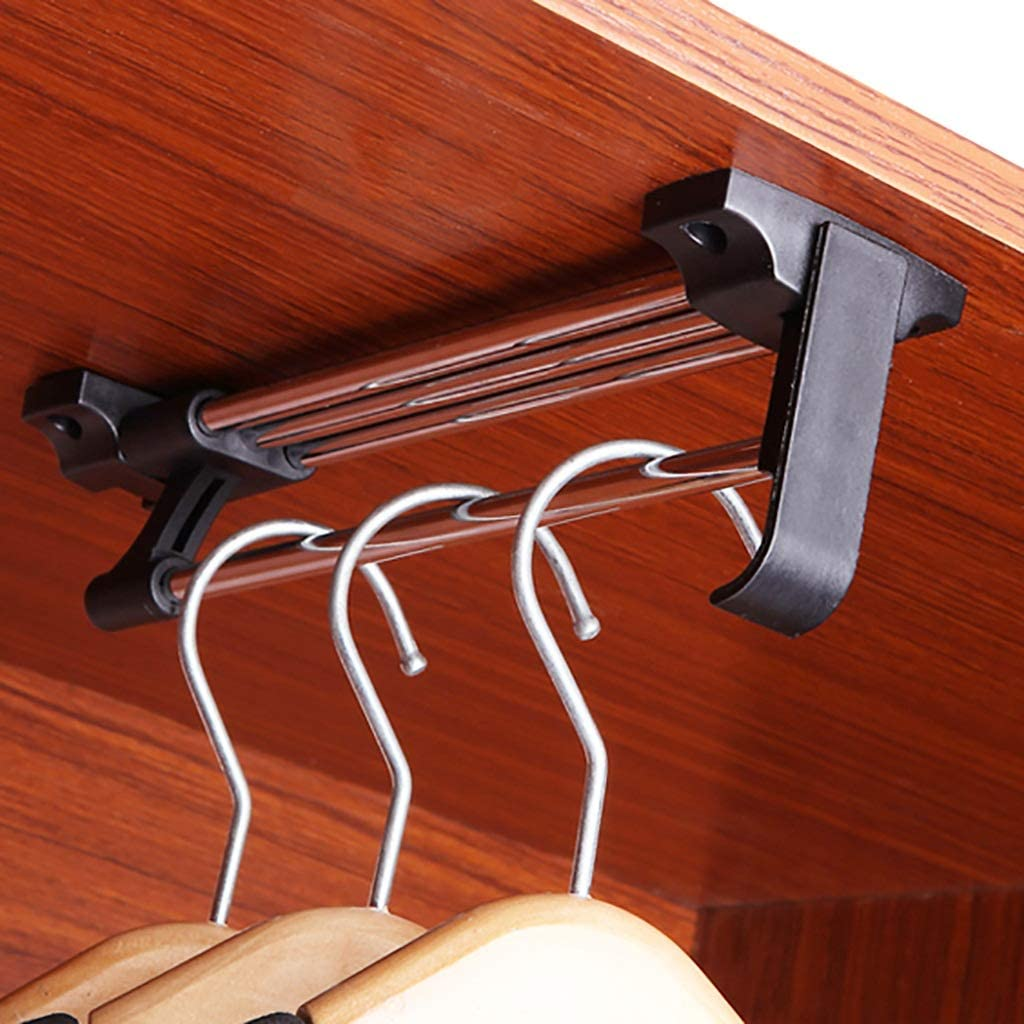 Floating Outlet ☆ Free Shipping Shelves Silver Closet Rail Clothes Retractable Hardware Max 54% OFF