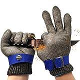 Guantes resistentes a los cortes, acero inoxidable, malla metálica, guantes de...