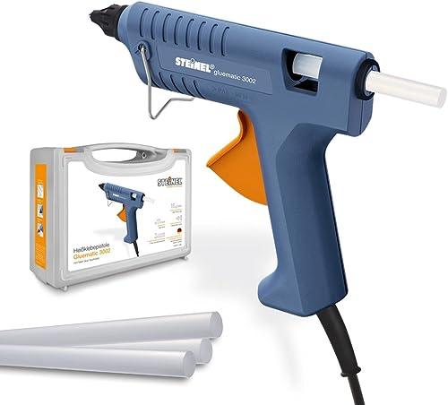 Steinel Gluematic 3002 avec mallette -Pistolet à colle chaude avec température de fusion 206°C, débit de colle 16 g/min