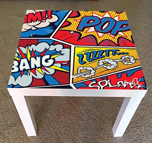 The Grafix Studio Comics Pop Art Adesivo in vinile adatto per tavolo ikea mancanza di tavolo/tavolino lk21
