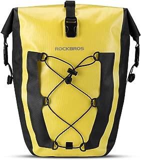 ROCK BROS Bike Pannier Waterproof 27L Large Capacity Bike Bag Rear Rack Bicycle Pannier Bag Waterproof for Grocery Touring Cycling