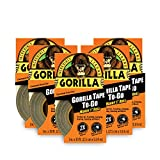 Gorilla 6100101-5 Duct Tape to-Go, 1' x 10 yd, Black, (Pack of 5), 5-Pack, 5 Piece