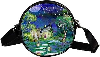 Coosun Umhängetasche, Märchenmotiv, Wasserfarben, rund, Umhängetasche für Kinder und Damen