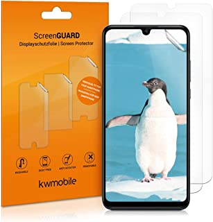 kwmobile Set of 3 Screen Protectors Compatible with Huawei P30 Lite - Screen Protector Crystal Clear Display Film Pack for...
