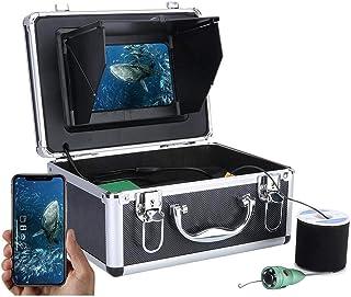 WiFi Inalámbrico 16GB Grabación de Video DVR Fish Finder, Monitor de 7 Pulgadas + 6W LED Blanco Cámara de Pesca submarina ...