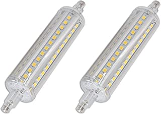 CTKcom R7S 118mm LED Bulbs(2 Pack) - J Type 118mm Double Ended 10W 120V Halogen Bulbs Cool White 6000K,R7S Double Ended Filament Flood Lights Quartz Tube Lamps 100W Replacement T3 Halogen Bulb,2 Pack