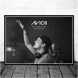 Singer Star Art Poster Canvas Painting Avicii Music DJ Wall Picture for Home Decor Posters and Prints Print on Canvas -50x75cm No Frame