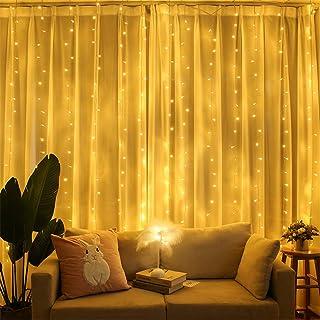 Sponsored Ad - PUHONG Fairy Window Curtain Lights,9.8ftX9.8ft 300 LED Valentine Decoration String Light [8 Modes & Waterpr...