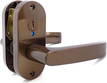川口技研 Jレバー 表示錠 小判座 住宅室内用レバーハンドル バックセット50mm JL-24-4K-Br ブラウン
