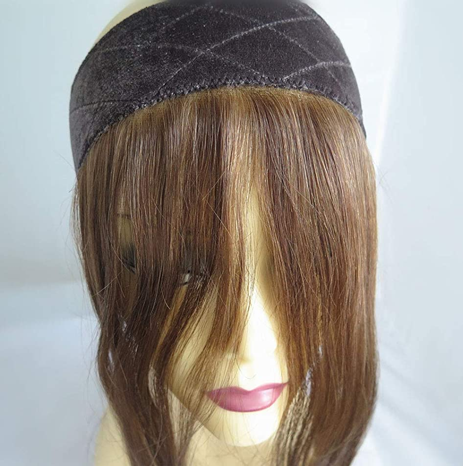 Jewish Wig Lace Grip,14 inches Invisible Hairline Comfortable Headband, 12/8 Color