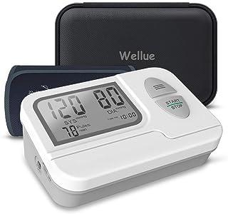 Tensiómetro de Brazo Digital, Monitor de Presión Arterial Automatico con Gran Pantalla LED, Deteccion de Irregular Arritmia, Brazalete 22-42cm, Memoria de Hasta 199 Mediciones