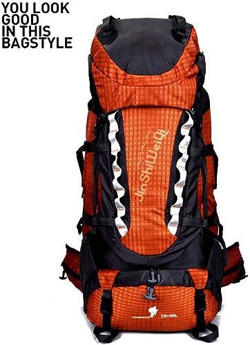 Climbing Package Sac à Dos d'alpinisme-80L Imperméable à l'eau en Plein Air-Hommes Et Femmes Grande Capacité Sports Sac à Dos-Camping Tente Voyage Randonnée,Orange