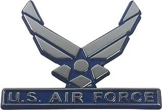 Elektroplate Air Force Metal Auto Emblem (Blue Trim)