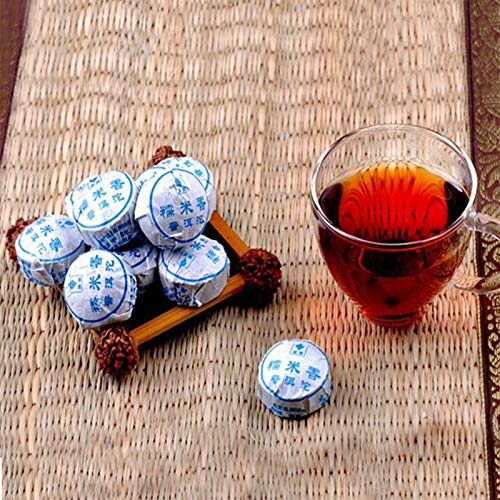 Té de puer chino maduro Té de Yunnan chino MINI Shu Puerh 100g (0.22LB) Té negro Té verde Pu'er té Té chino Pu er Té Té maduro shu cha Comida sana Pu-erh té Árboles viejos Pu erh té té cocido Té rojo