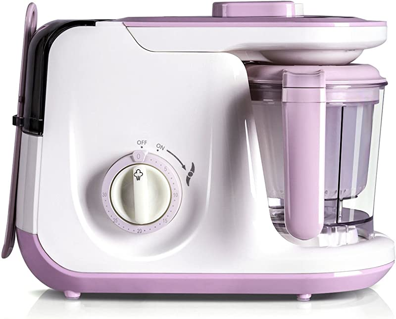 Costzon Baby Food Processor 5 In 1 Food Maker For Toddlers With Steam Blend Chop Sterilizer Defrost Clean Function One Hand Operation Auto Shut Off
