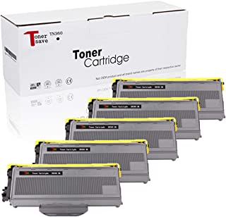 Tonersave Compatible TN360 TN-360 Toner Cartridge for Brother HL-2140 HL-2170 HL-2170W MFC-7840W MFC-7440N DCP-7030 HL-2150 HL-2150N DCP-7040 Laser Printer 5PK Black