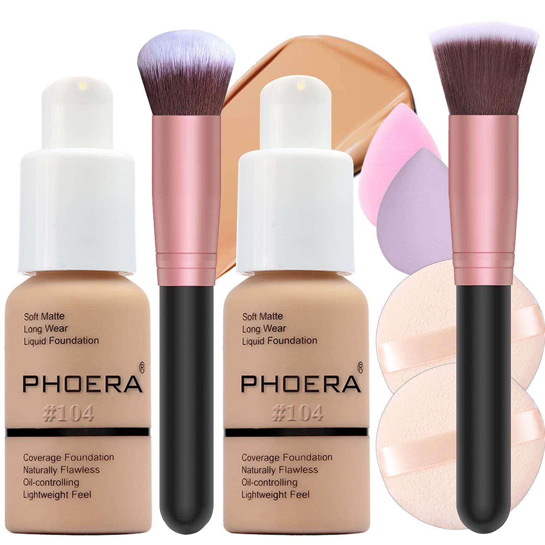 2 Pack Foundation Nude Powder Makeu and Sale price Award-winning store Brush