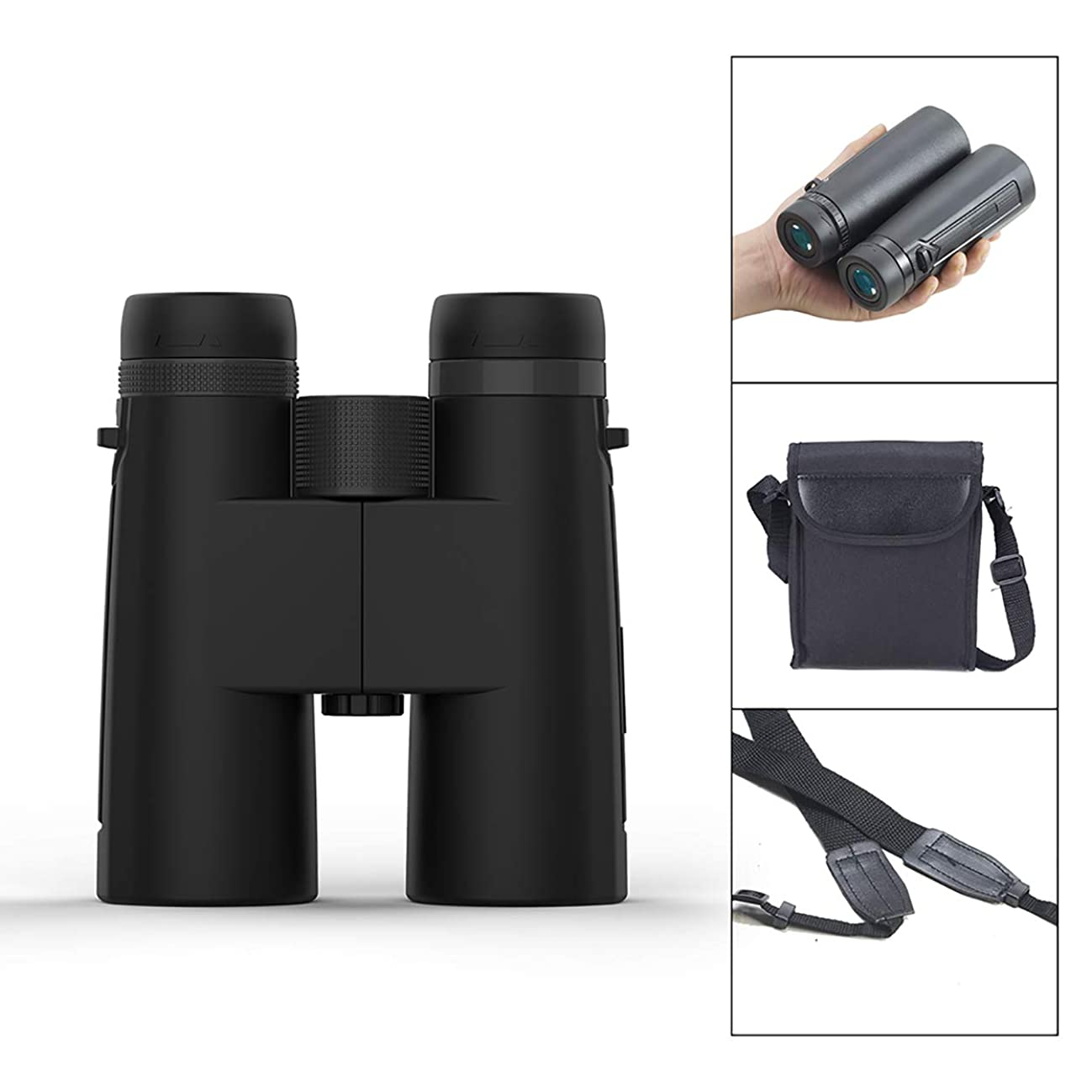 HD Binoculars for Adults, Hima 12x42 Compact Lightweight Professional Prism Binoculars for Adults Bird Watching Hunting Travel Theater and Concerts Binoculars Waterproof with Night Vision High Power