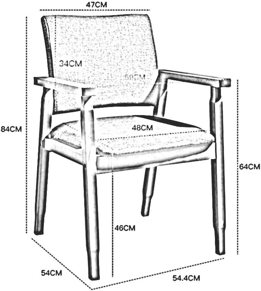 WYYY chaises Chaise De Salle À Manger Jambes De Bois Chaise De Dossier De Loisirs Rembourrés Chaises De Table Facile À Assembler Chaise De Bureau Durable fort (Color : Gray) Green