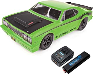 Team Associated 1/10 DR10 Drag Race Car, Brushless 2WD RTR, w/ LiPo Battery & Charger, Green