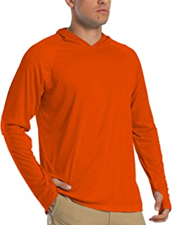 Sponsored Ad - FASKUNOIE Men's Long Sleeve Upf 50+ Hoodies Sun Protection T-Shirts with Thumb Holes