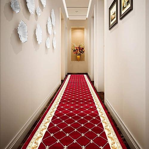 Tapis de couloir Tapis de chemin de roulement pour tapis de tapis extra longs, entrée rouge, tapis de sol, taille personnalisable (Couleur   Blended, Taille   1x3m)