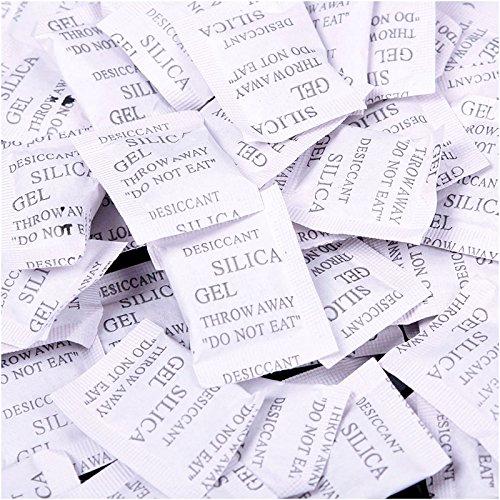 Desecante gel silice, bolsas antihumedad, bolsas de gel de sílice, Desecantes de Humedad 100pcs * 1g fuerte adsorben la humedad